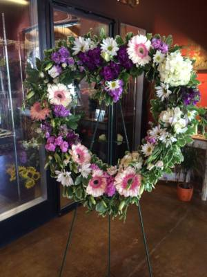 Funeral celebration wreath