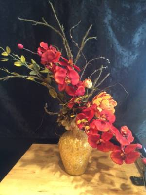 Silk arrangement home decor